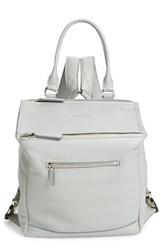 Givenchy 'Pandora' Waxy Leather Backpack Grey Pearl Grey