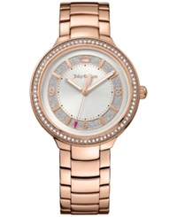 Juicy Couture Women's Catalina Diamond Accent Rose Gold Tone Bracelet Watch 36Mm 1901401
