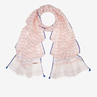 Bally 'S Linen And Silk Jacquard Scarf In Multi White