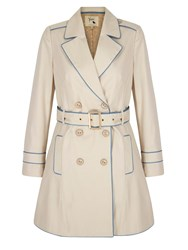 Yumi Contrast Trench Coat Stone