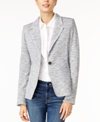 Tommy Hilfiger Knit Blazer Only At Macy's Heather Grey