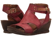 Miz Mooz Scout Currant Women's Wedge Shoes Red
