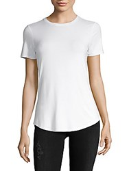 Saks Fifth Avenue Black Short Sleeve Tee White