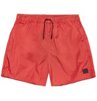 Acne Studios Perry Mid Length Swim Shorts Red