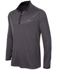 Greg Norman For Tasso Elba Men's Big And Tall Embossed Quarter Zip Sweater Only At Macy's Before Dark