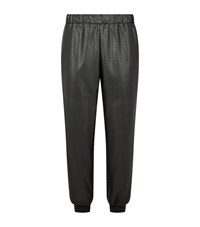 Pinko Perforated Faux Leather Trousers Female Black