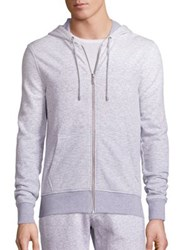 Michael Kors Ombre Textured Hoodie Eggshell