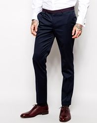Noose And Monkey Suit Trousers In Skinny Fit Blue