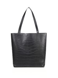 Ethan K Sands Reversible Crocodile Tote Black Ombre