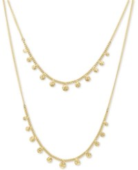 Lonna And Lilly Gold Tone Dangle Layered Necklace 16 3 Extender