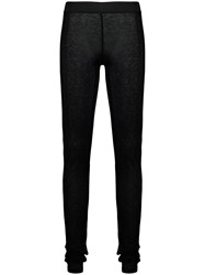 Ann Demeulemeester Semi Sheer Leggings Black