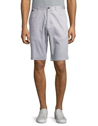 Calvin Klein Printed Cotton Blend Shorts Cinderblock