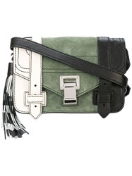 Proenza Schouler Colorblock Ps1 Mini Crossbody White
