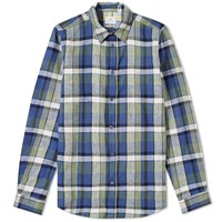 Paul Smith Tailored Fit Check Shirt Green