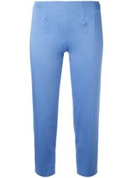 Piazza Sempione Audrey Cropped Trousers Blue