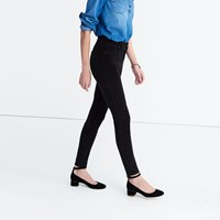 Madewell 9 High Rise Skinny Jeans In Velvet True Black