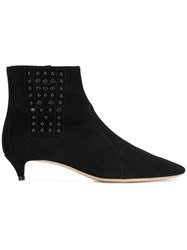 Tod's Embellished Ankle Boots Black