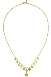 Pippa Small 18 Karat Gold Multi Stone Necklace One Size Gbp