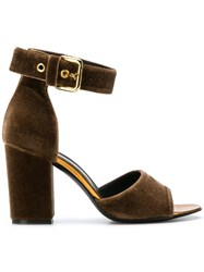 Via Roma 15 Ankle Strap Sandals Brown