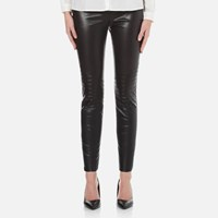 Boss Orange Women's Saledy Faux Leather Leggings Black