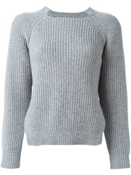 Liska Ribbed Jumper Grey
