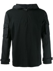 Wtaps Patch Pocket Sleeve Hoodie Black