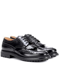 Church's Priscilla Fringed Leather Derby Shoes Black