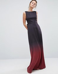 Ted Baker Ombre Maxi Dress Black Multi