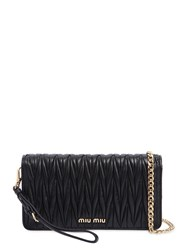Miu Miu Mini Quilted Leather Shoulder Bag Black