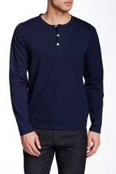 Jacob Holston Barry 3 Button Henley Blue