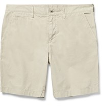 Burberry Cotton Poplin Chino Shorts Beige