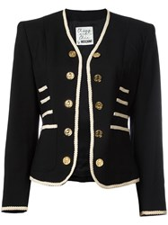 Moschino Vintage Military Style Jacket Black