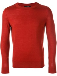 A.P.C. Crew Neck Jumper Red