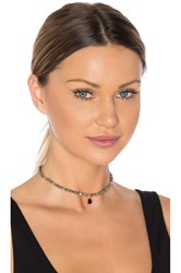 Ettika Beaded Choker Charcoal