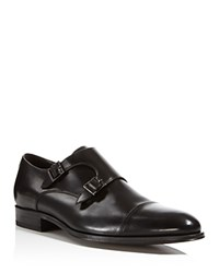 To Boot New York Medford Leather Double Monkstrap Oxfords Black