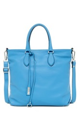 Abro Adria Leather Tote Blue