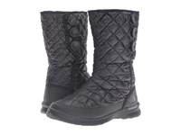The North Face Thermoball Button Up Shiny Tnf Black Smoked Pearl Grey Women's Pull On Boots