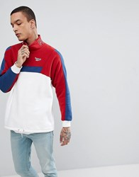 Reebok Vector Half Zip Jacket In Red Ce4990