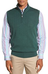 Men's Bobby Jones Quarter Zip Wool Sweater Vest Pine