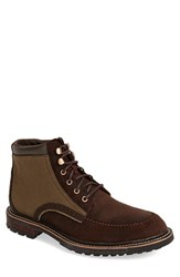 Men's Woolrich 'Woodwright' Leather And Canvas Moc Toe Boot