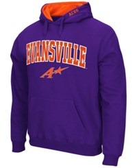 Colosseum Men's Evansville Aces Arch Logo Hoodie Purple