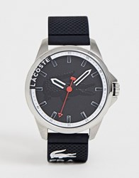 Lacoste Silicone Logo Watch In Black