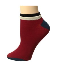 Richer Poorer Cassat Low Show Red Women's Crew Cut Socks Shoes