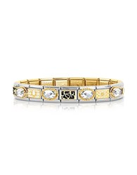Nomination Classic Elegance Gold And Stainless Steel Bracelet W Gemstone Silver