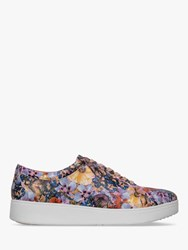 Fitflop Rally Lace Up Trainers Multi Floral Leather