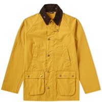 Barbour Heritage Garment Dyed Sl Bedale Jacket Yellow