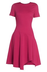 Eliza J Drop Waist Fit And Flare Dress Pink