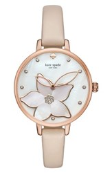 Kate Spade New York Flower Leather Strap Watch 34Mm