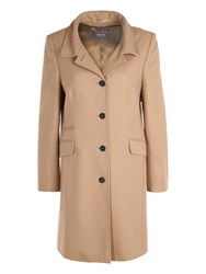Basler Tailored Coat With Cashmere Navy