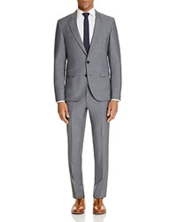Hugo Solid Slim Fit Suit Medium Gray